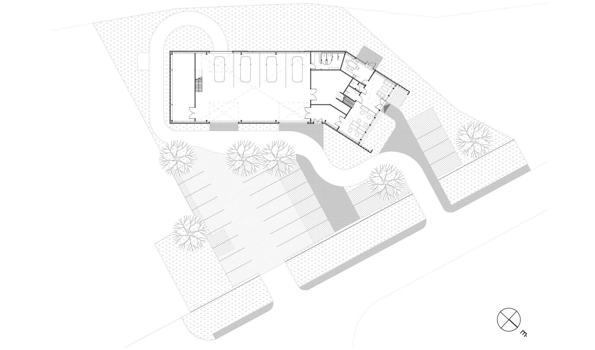 WeCare architecture Eco-Living E-Service Electric Car Service Solymár Industrial Shed Floorplan Hungarian