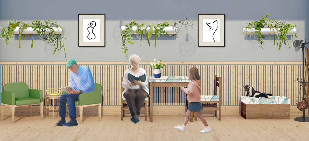 WeCare architecture Dementia Friendly Environment example