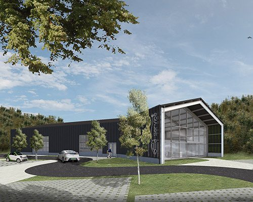 WeCare architecture Eco-Living E-Service Electric Car Service Solymár Industrial Shed Icon