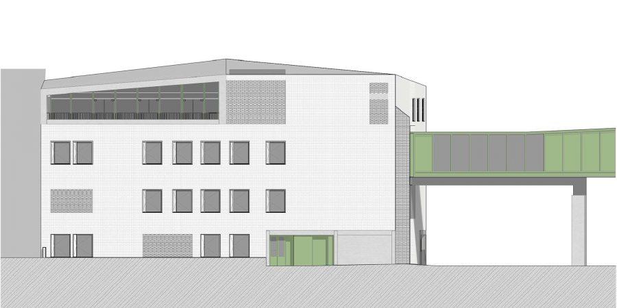 wecare architecture Varosmajor clinic plant peter kis budapest hungary health healing care elevation