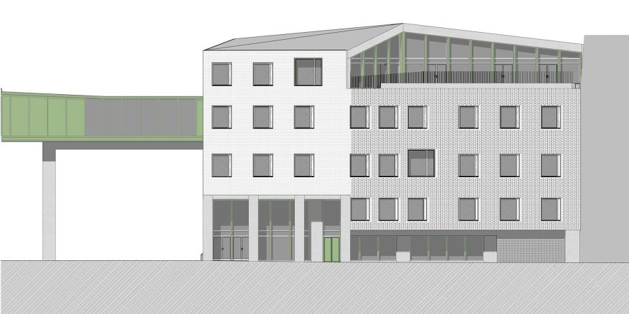 wecare architecture Varosmajor clinic plant peter kis budapest hungary health healing care elevation