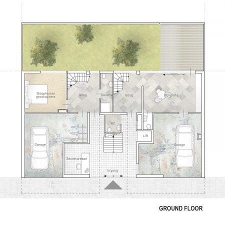 Eco-Living Channel House Graffiti Rotterdam Floorplan Ground