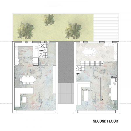 Eco-Living Channel House Graffiti Rotterdam Elevation Floorplan Second