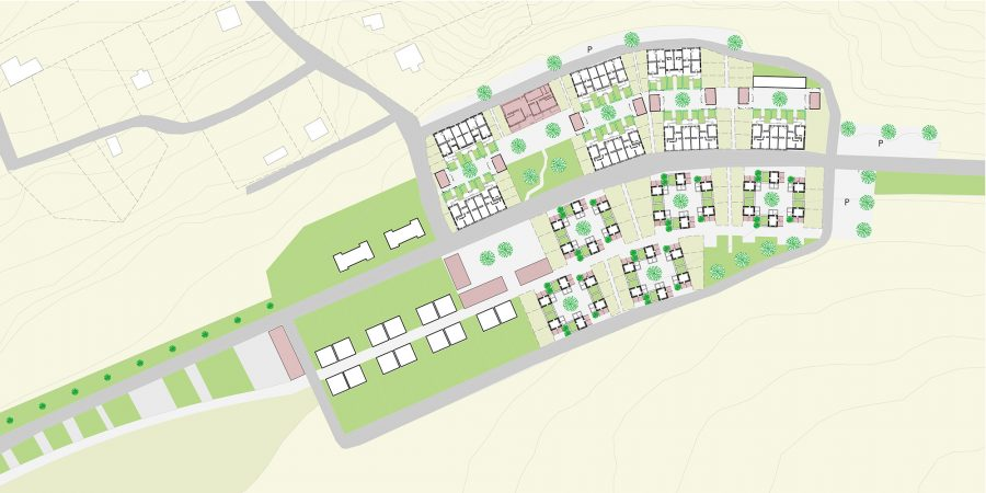 Eco-Living Social housing Empowerment of Roma population through Incremental Building and Renovation in Ózd Hungary Site Plan
