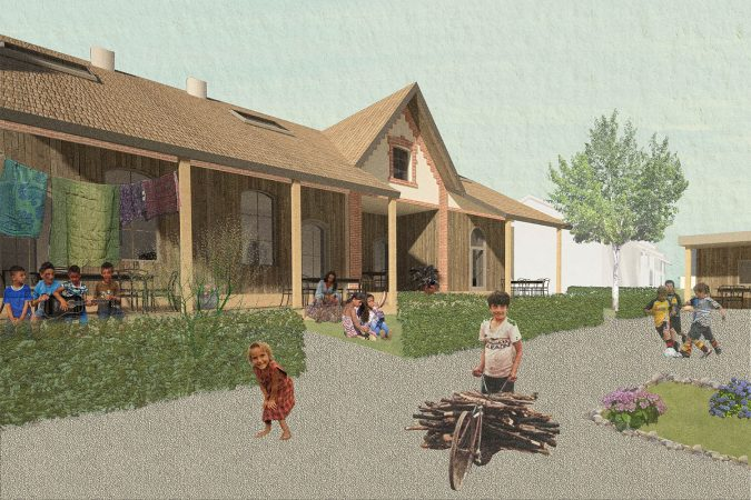Eco-Living Social housing Empowerment of Roma population through Incremental Building and Renovation in Ózd Hungary Render 02
